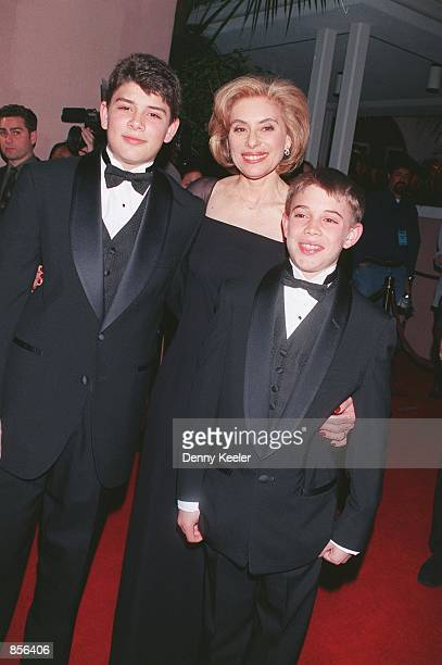Beverly Hills CA Raul Julia's widow Merel Poloway with their sons Raul and Benjamin at the A Night For A Dream The Raul Julia Ending Hunger Fund 3rd...