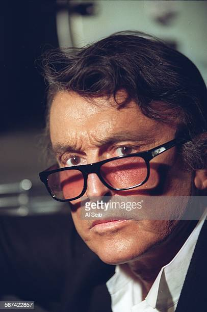 Beverly Hills CA Robert Evans the legendary movie producer who is enjoying a renaissance is photographed in the projection room of his Beverly Hills...