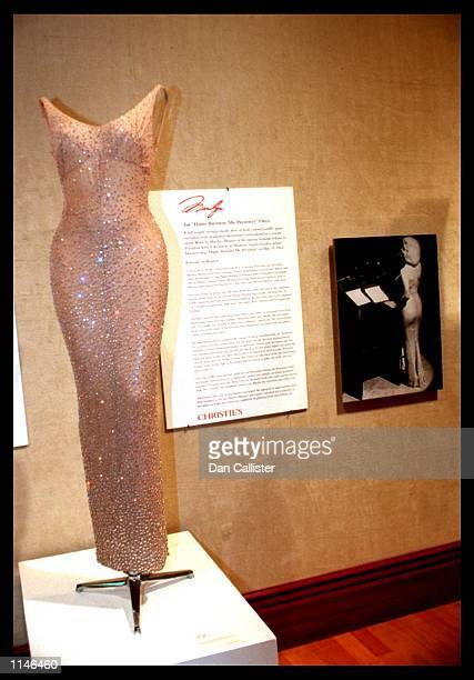 08/19/99 Beverly Hills CA Some of Marilyn Monroe's possesions go for auction including the famous 'Happy Birthday Mr President' Photo by DAN...