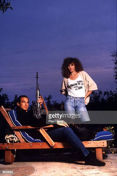 Beverly Hills, CA Steven Seagal and his wife, actress/supermodel Kelly LeBrock at home when they where married and had their first child. They...
