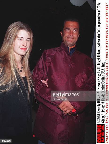 Beverly Hills CA Steven Seagal with his girlfriend Arissa Wolf at the premiere of My Giant Photo by David Keeler/Online USA Inc