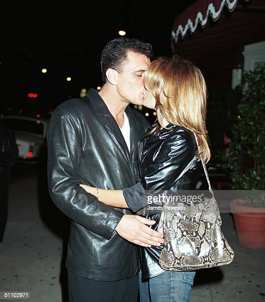 Beverly Hills Ca Tahnee Welch Plants A Kiss On Her Boyfriend Luca Palanca Outside Of The Atlantic Restaurant Luca Works For Tahnee Welch's Mother...