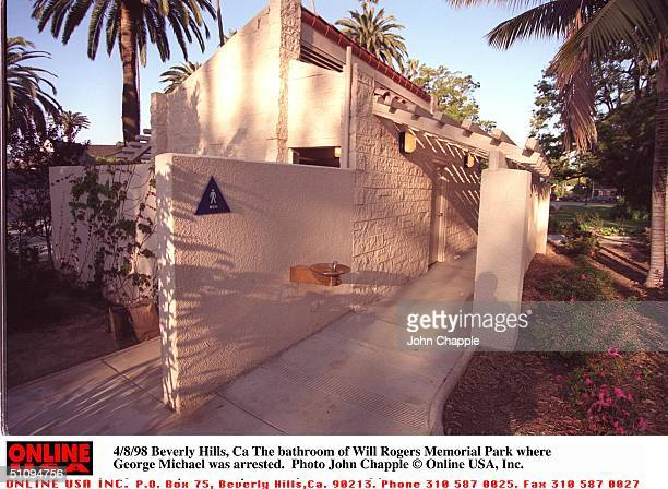 Beverly Hills, Ca The Bathroom Of Will Rogers Memorial Park Where George Michael Was Arrested.