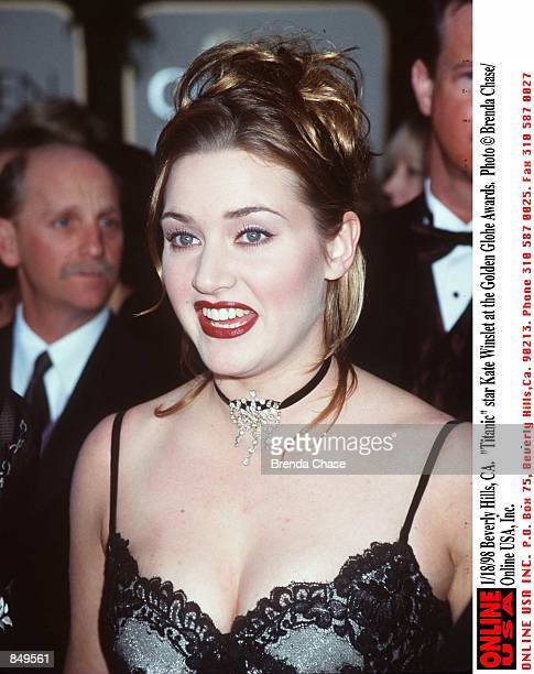 Beverly Hills CA 'Titanic' star Kate Winslet at the Golden Globe Awards held at the Beverly Hilton