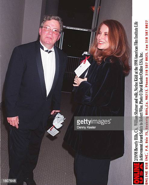 Beverly Hills CA William Shatner with his daughter Lisabeth at the 1998 American Film Institute Life Achievement Award Salute to Robert Wise Photo by...