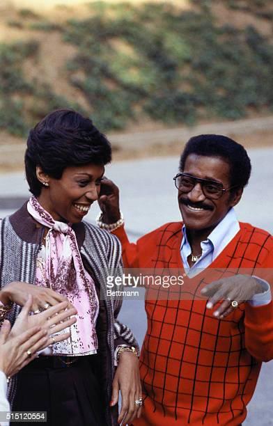 Actor Sammy Davis Jr with wife Altovise
