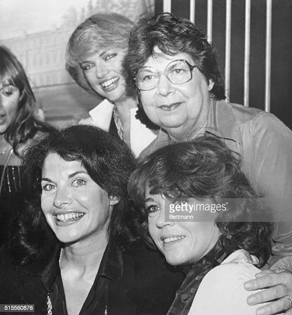 Beverly Hills California Actress/producer Jane Fonda Sherry Lansing President of Twentieth Century Fox and Vera Fields Vice President of Universal...