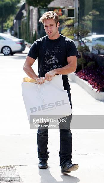 Beverly Hills California July 7 2010 Shaun Sipos Canadian actor known for his role as David Breck on The CW series Melrose Place shopping at Diesel...