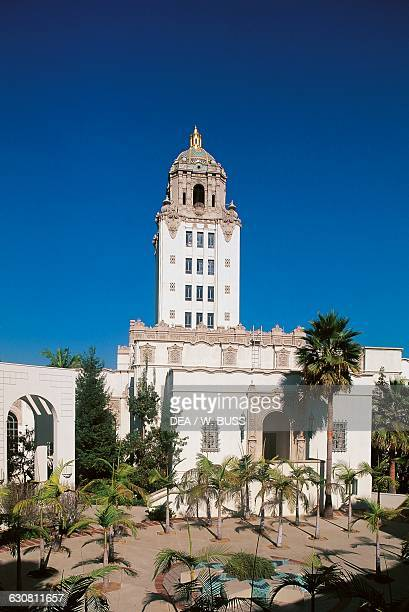 Beverly Hills City Hall historic municipal building in Beverly Hills designed by William J Gage and Harry G Koerner Los Angeles California United...