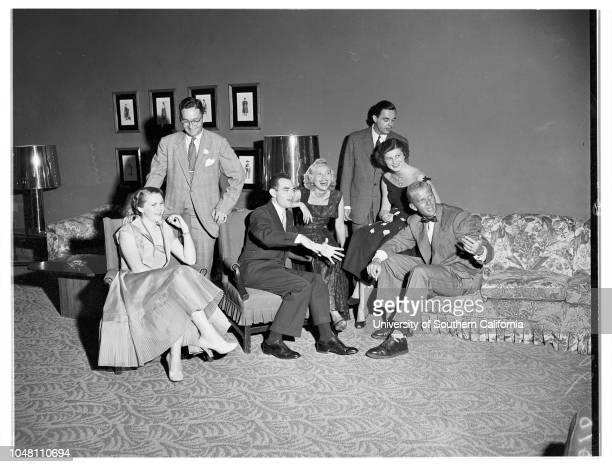 Beverly Hills Hotel Party 23 June 1951 Mrs Granville AbbottWinslow MaxwellMiss Virginia HobbsDick JacksonMiss Kay KellyMiss Bonny HowesJerry...