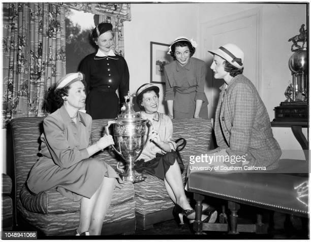 Beverly Hills Polo Clubsociety May 13 1951 Mrs Harold MelothMr and Mrs Bob SkeneMrs Aiden RoarkMrs Tevis MorrowMr and Mrs Bob FletcherMrs Carlton...
