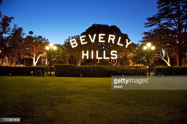 beverly hills sign in california - hollywood kalifornien bildbanksfoton och bilder