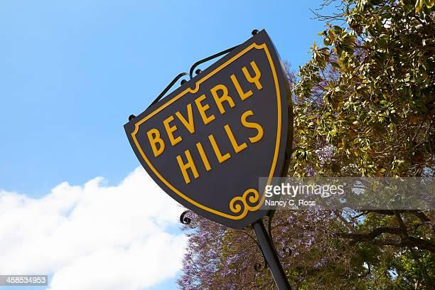 beverly hills sign - beverly hills californië stockfoto's en -beelden