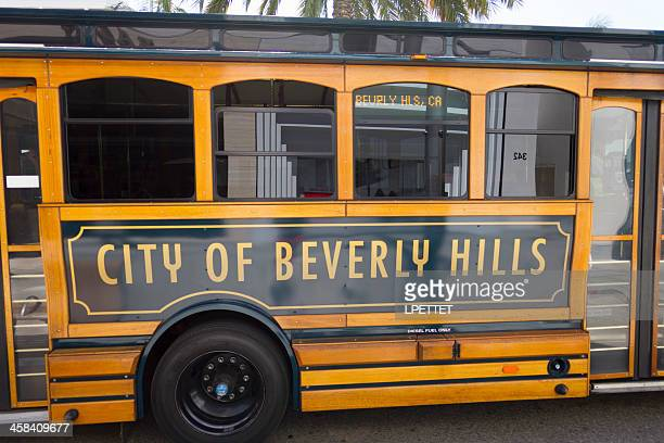 beverly hills trolley - beverly hills foto e immagini stock