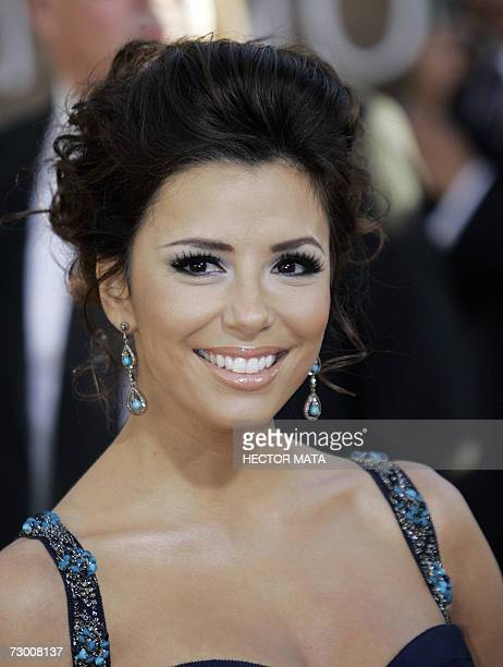 "Beverly Hills, UNITED STATES: US actress Eva Longoria from the television show ""Desperate Housewives"" arrives 15 January 2007for the 64th Annual..."