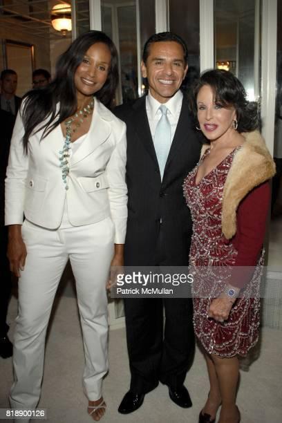 Beverly Johnson Antonio Villaraigosa and Nikki Haskell attend Mayor Antonio Villaraigosa celebrates Nikki Haskell's Birthday at Sierra Towers on May...