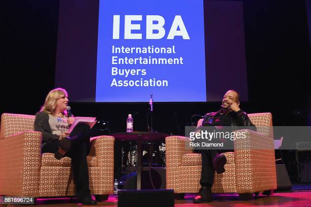 Beverly Keel and IceT speak on the Keynote QA IceT panel onstage during IEBA 2017 Conference on October 15 2017 in Nashville Tennessee