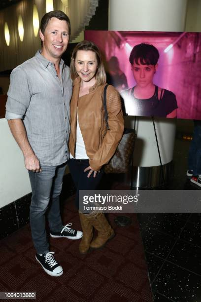 Beverly Mitchell and Michael Cameron at a Social Influencer Special Screening of Columbia Pictures' 'The Girl In The Spider's Web' held at ArcLight...