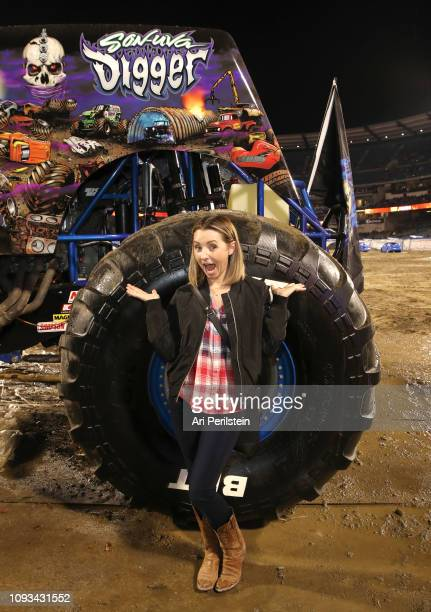 Beverly Mitchell attends the Monster Jam Celebrity Event at Angel Stadium on January 12 2019 in Anaheim California