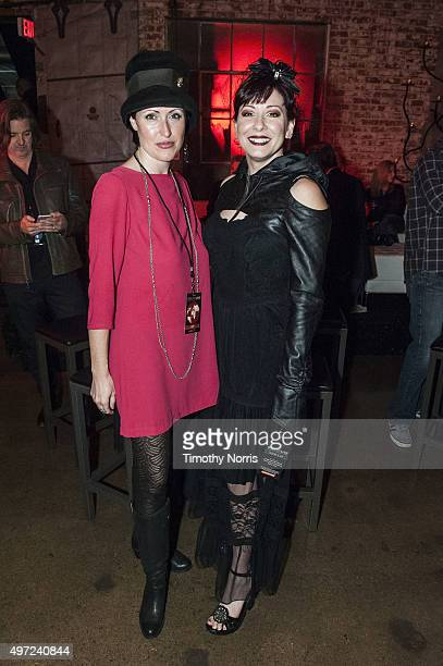 Beverly Prior and Bridget Barrington at LA River Studios on November 14 2015 in Los Angeles California