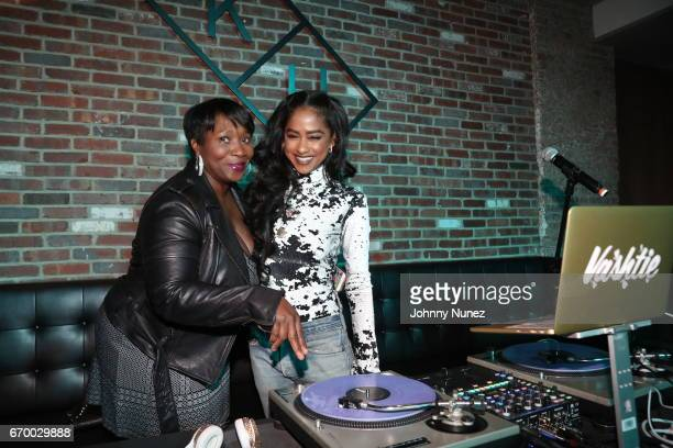 Beverly Smith and Vashtie attend Remy Martin and Charlamagne Tha God Celebrate Black privilege Book Launch at Kola House on April 18 2017 in New York...