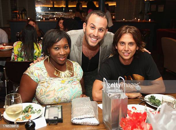 Beverly Smith Micah Jesse and Jonathan Cheban attend the Invisible Text Mobile App Preview at the Soho House on August 14 2013 in New York City