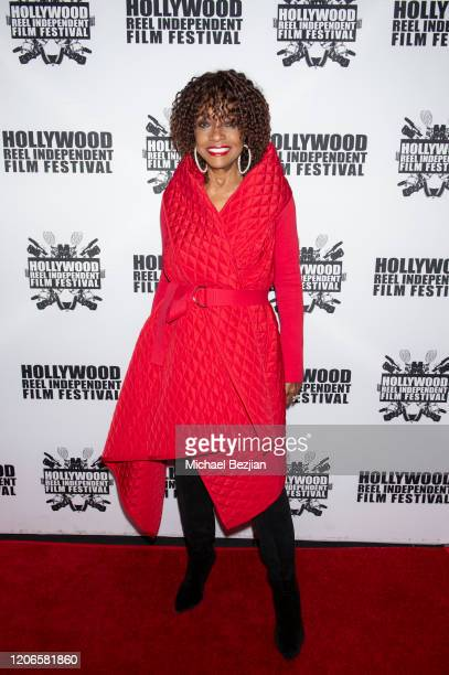 Beverly Todd arrives at A Dark Foe Film Premiere on February 15 2020 in Los Angeles California
