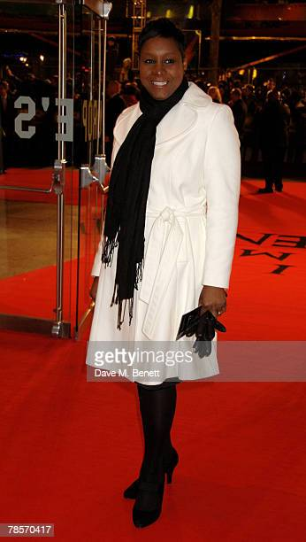 Beverly Trotman arrives at the UK Premiere of 'I Am Legend' at the Odeon Leicester Square on December 19 2007 in London England