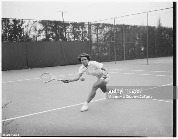 Beverly Wilshire Hotel tennis 01 April 1949 Marie JohnsonBarbara GreenSeymour Greenberg9500 Wilshire Blvd Beverly Hills Los Angeles California USA