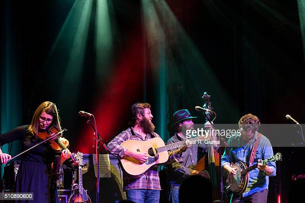 Bevin Foley, Steve Foltz, Casey Houlihan, and Travis McNamara of Trout Steak Revival perform on stage at The Variety Playhouse on February 13, 2016...