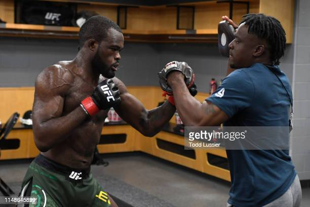 Bevon Lewis warms up backstage during the UFC 238 event at the United Center on June 8 2019 in Chicago Illinois
