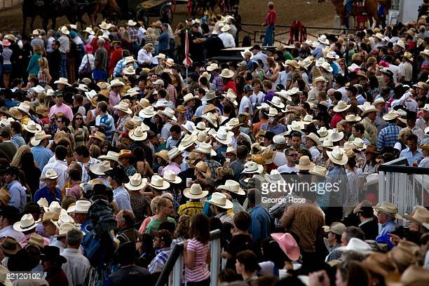 A bevy of cowboy hats at the Stampede Park grandstand area is viewed in this 2008 Calgary Canada summer festival photo The annual world famous event...