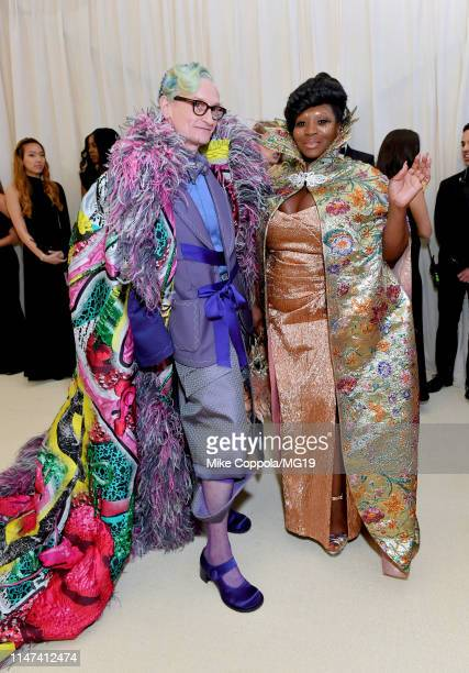 Bevy Smith and Hamish Bowles attend The 2019 Met Gala Celebrating Camp Notes on Fashion at Metropolitan Museum of Art on May 06 2019 in New York City
