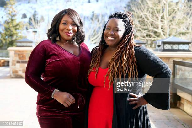 Bevy Smith and Kelley L Carter attend Cocktails with Bevy Multicultural Networking Mixer at St Regis Deer Crest Resort on January 25 2020 in Park...