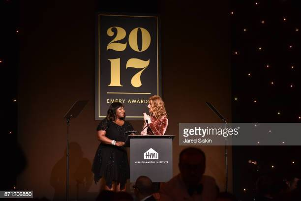 Bevy Smith and Sandra Bernhard attend HetrickMartin Institute's 2017 'Pride Is' Emery Awards at Cipriani Wall Street on November 6 2017 in New York...