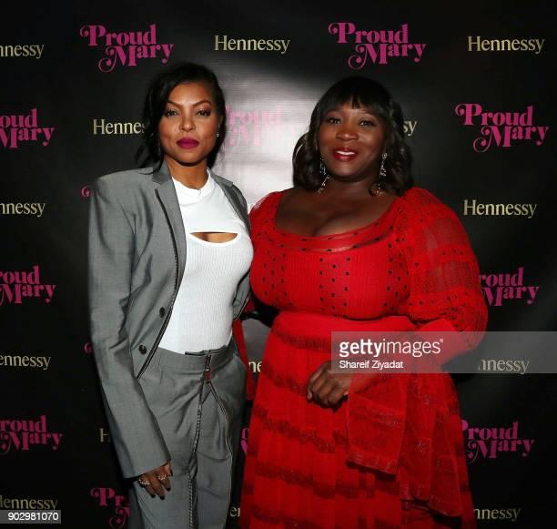 Bevy Smith and Taraji P Henson attends Hennessy VSOP Privilege's Taraji P Henson Dinner at Zuma on January 8 2018 in New York City