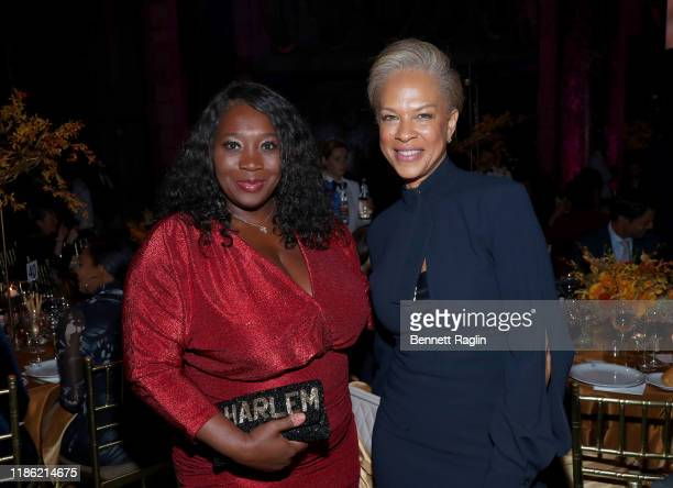 Bevy Smith and Tonya Lewis Lee attend the NAACP LDF 33rd National Equal Justice Awards Dinner at Cipriani 42nd Street on November 07 2019 in New York...