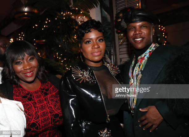 Bevy Smith Fantasia Barrino and Miss Lawrence attend the Chez Lucienne Of Harlem Grand ReOpening and Fantasia's Christmas After Party at Chez...