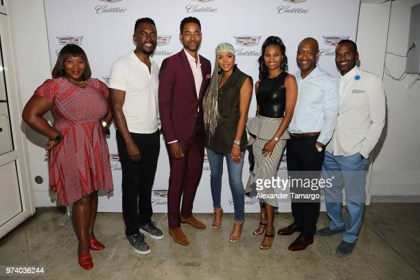 Bevy Smith Jay Ellis Michelle Rice LaToya Luckett Nicole Friday Jeff Friday and Rahsan Rahsan Lindsay attend the Cadillac Welcome Luncheon At ABFF...