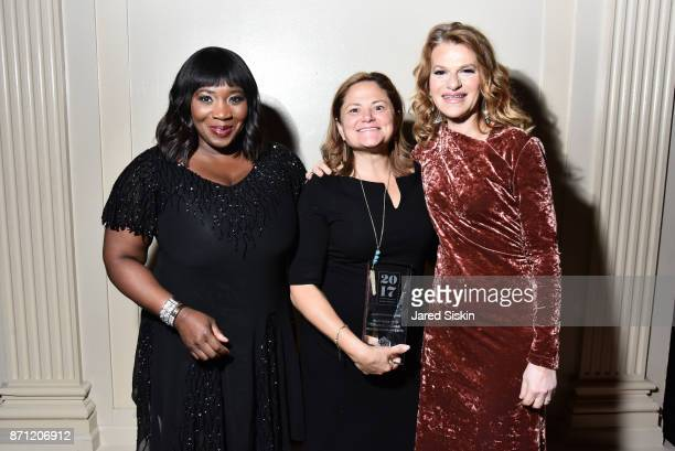 Bevy Smith Melissa MarkViverito and Sandra Bernhard attend HetrickMartin Institute's 2017 'Pride Is' Emery Awards at Cipriani Wall Street on November...