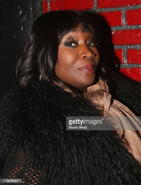 Bevy Smith poses backstage at the hit musical Ain't Too Proud on Broadway at The Imperial Theatre on March 28 2019 in New York City