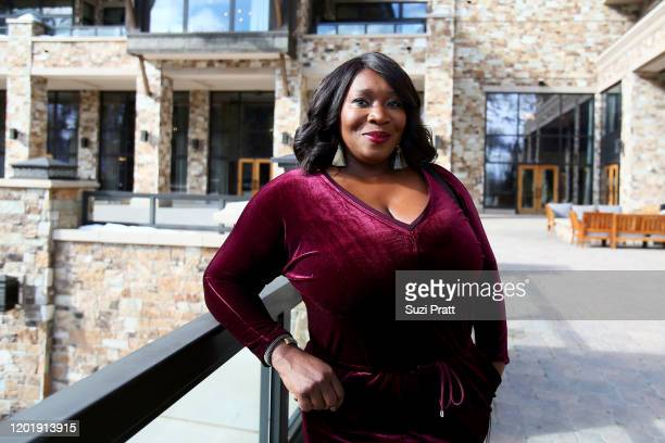 Bevy Smith poses during Cocktails with Bevy Multicultural Networking Mixer at St Regis Deer Crest Resort on January 25 2020 in Park City Utah 731296