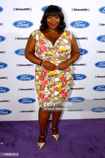 Bevy Smith poses during SiriusXM's Radio Andy Channel Broadcast from Essence Festival at Ernest N Morial Convention Center on July 05 2019 in New...