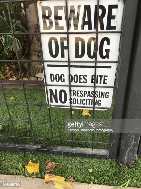 Beware Dog Signs