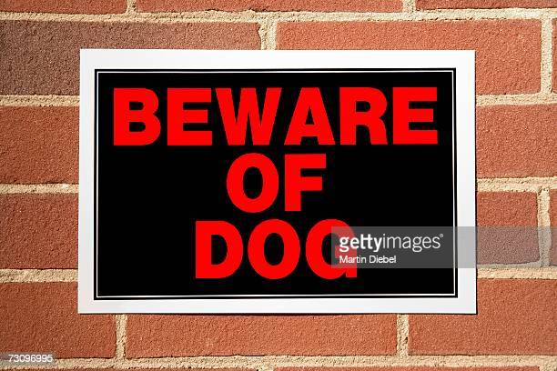 ?Beware of Dog? sign