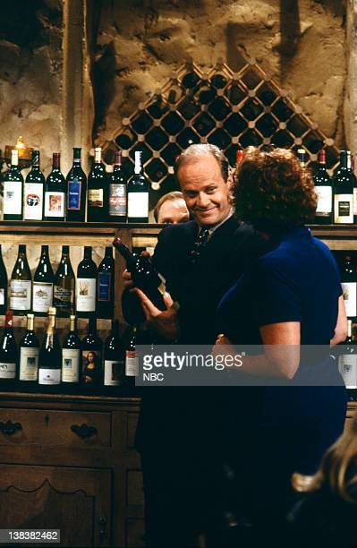 FRASIER Beware of Greeks Episode 16 Pictured David Hyde Pierce as Doctor Niles Crane Kelsey Grammer as Doctor Frasier Crane Lori Harmon as Cousin...