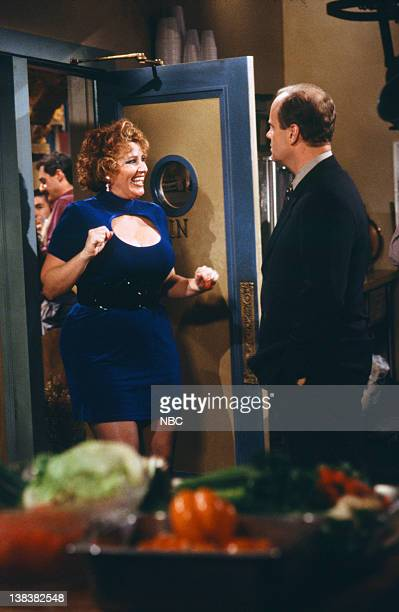 FRASIER Beware of Greeks Episode 16 Pictured Lori Harmon as Cousin Yvonne Kelsey Grammer as Doctor Frasier Crane