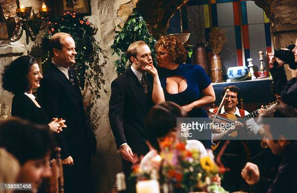FRASIER Beware of Greeks Episode 16 Pictured Patti LuPone as Aunt Zora Crane Kelsey Grammer as Doctor Frasier Crane David Hyde Pierce as Doctor Niles...