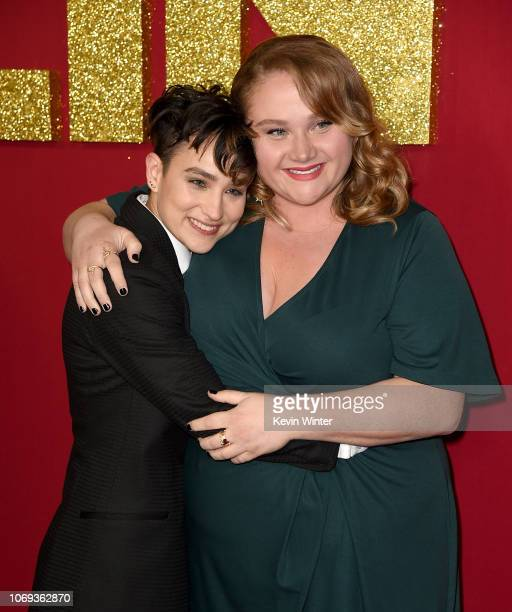 Bex TaylorKlaus and Danielle MacDonald arrive at the premiere of Netflix's Dumplin' at the Chinese Theater on December 6 2018 in Los Angeles...