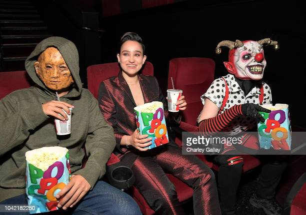 Bex TaylorKlaus and Fright Fest Scareactors from the Hell Fest Maze at Six Flags Magic Mountain attend the Opening Night Screening Of HELL FEST at...
